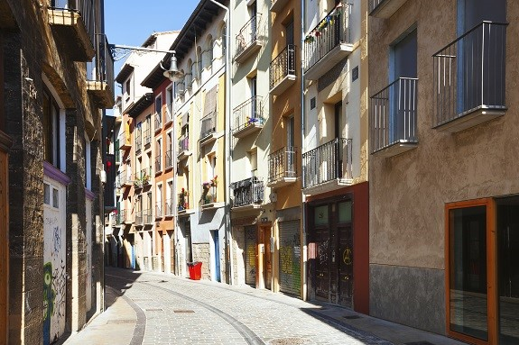 Old street in  Pamplona