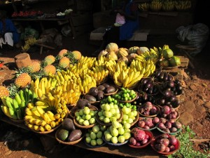 Uganda's open air markets provided the perfect opportunity to practice negotiating skills.