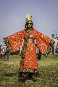 The highly colorful and elaborate costumes of the Baekje Culture Festival were almost overwhelming.