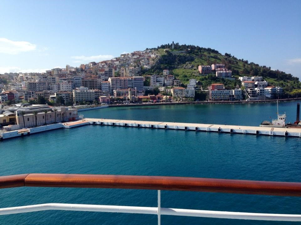 View from ferry of Canakkale. Photo courtesy of Lacee Floyd.
