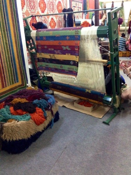 Rugs in the market. Photo courtesy Lacee Floyd.