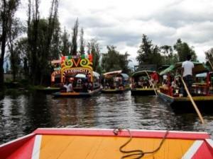The floating city of Xochimilco, Mexico City