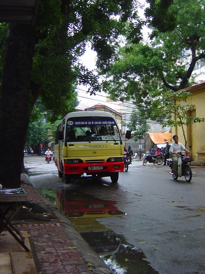 Bus 23 in the Old Quarter of Hanoi
