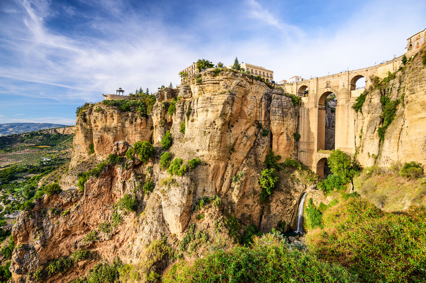 Ronda, Spain at Puente Nuevo Bridge