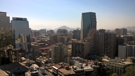 View of Cerro Santa Lucia, Santiago