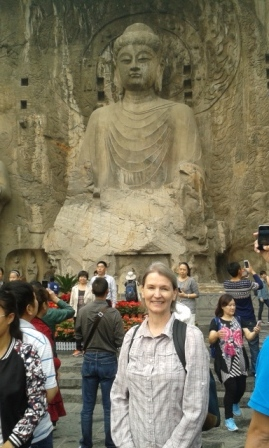 Visiting Longmen Grottoes in China