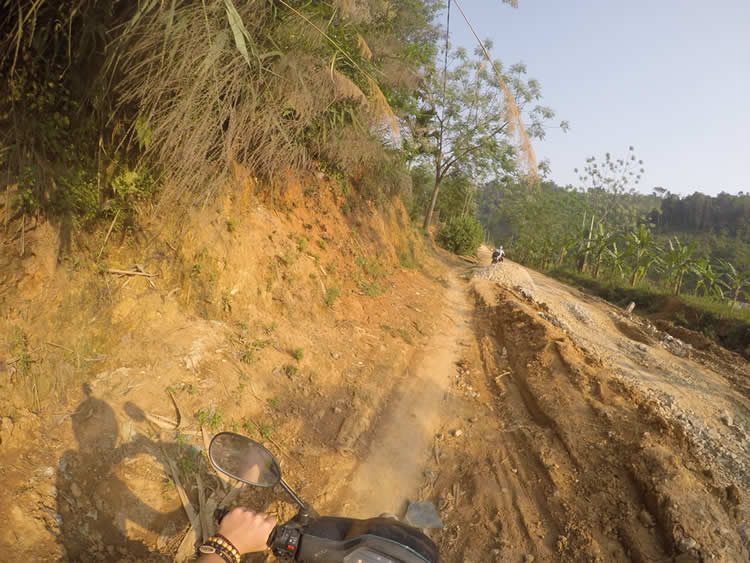 One of the rural roads we got lost on in Northern Vietnam