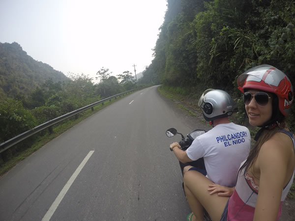 leaving Phong Nha on our bike