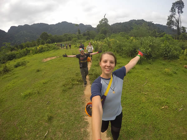 Selfie While Hiking to Phong Nha