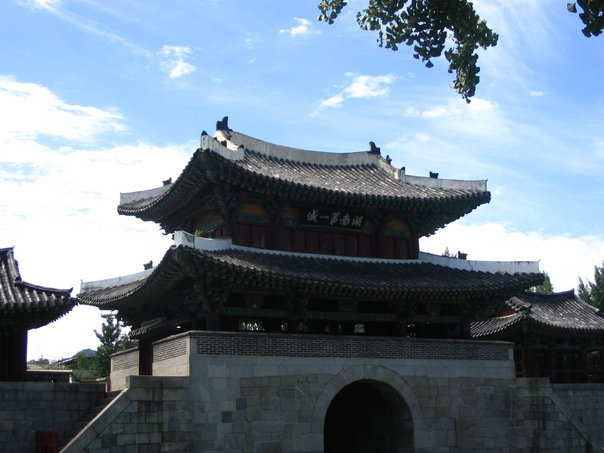 A view of Pungnam Mun Gate in Jeonju, South Korea