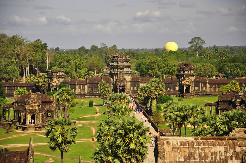 Visiting Angkor Wat as we travel and teach ESL
