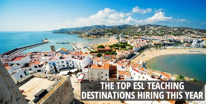 Top ESL teaching destinations hiring this year