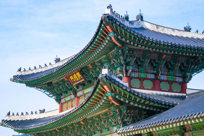 Ornament Rooftops of the South Korean Temples