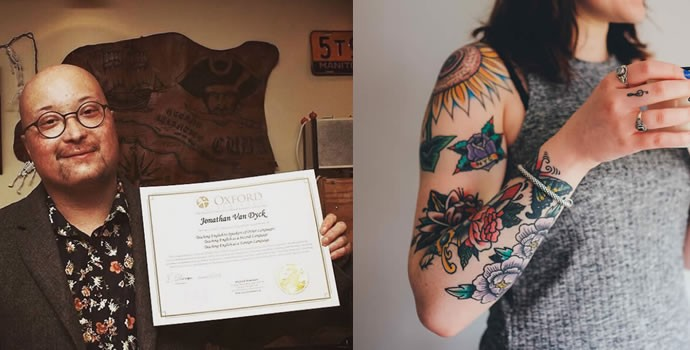 Our grad talks about tattoos & teaching English in China - Video