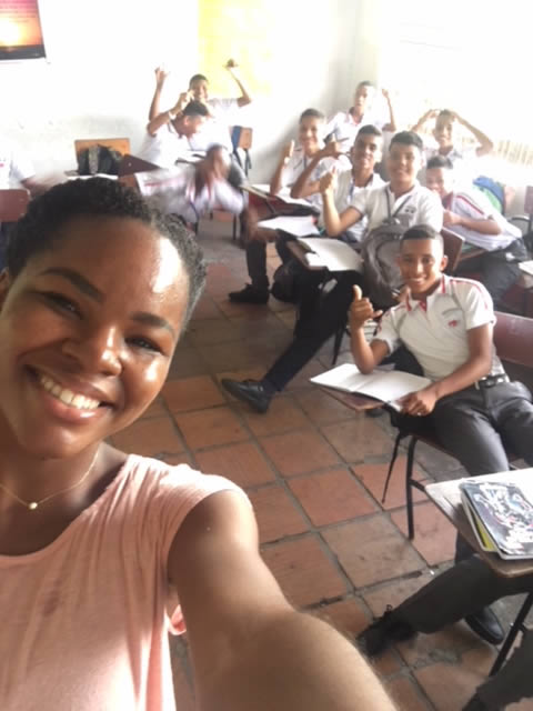 One of my English classes in Colombia