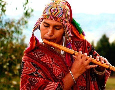 Peruvian bamboo reed flute